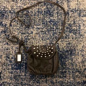 Badgley Mischka ' Mini' Studded Flap Crossbody Bag